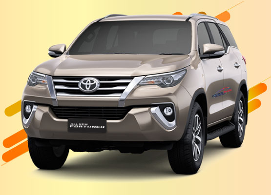 rental all new fortuner di lombok