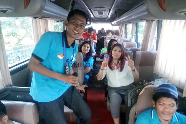 crew on the bus