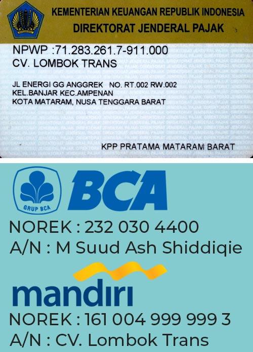 npwp lombok trans