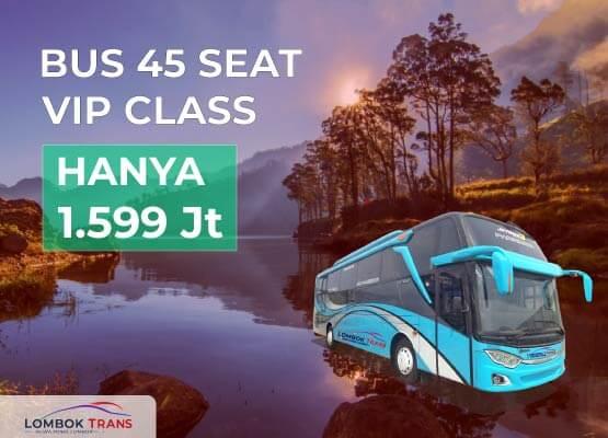 rental bus wisata 45 seat lombok