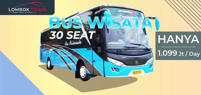 rental bus lombok 30 seat